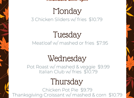 November Lunch Specials