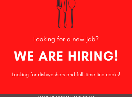 Now Hiring Line Cooks