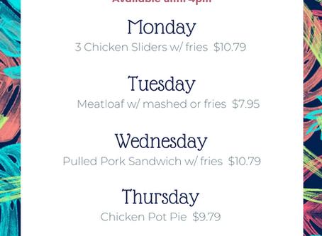 September Lunch Specials