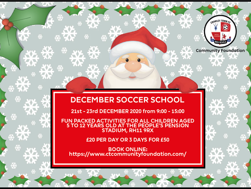 Sign up today for our Christmas Soccer Schools.