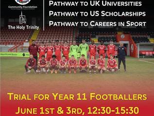 Crawley Town 16-19 Football & Education Academy Trials