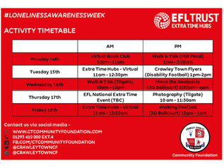 Brand new sessions launching for Extra Time Hubs