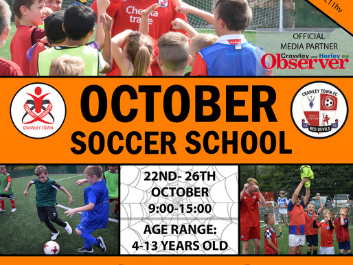 Sign up today for October Soccer School this Halloween!