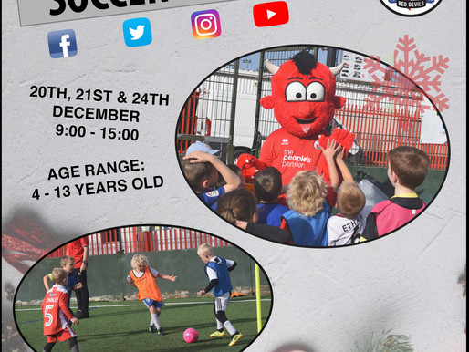 Sign up today for our December Soccer Schools this Christmas!!