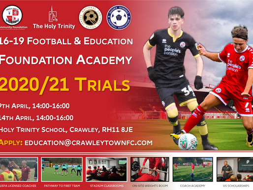 Crawley Town Community Foundation's Phased Return to Play