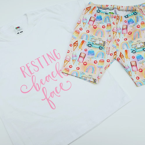 Vinyl T-Shirt and shorts set