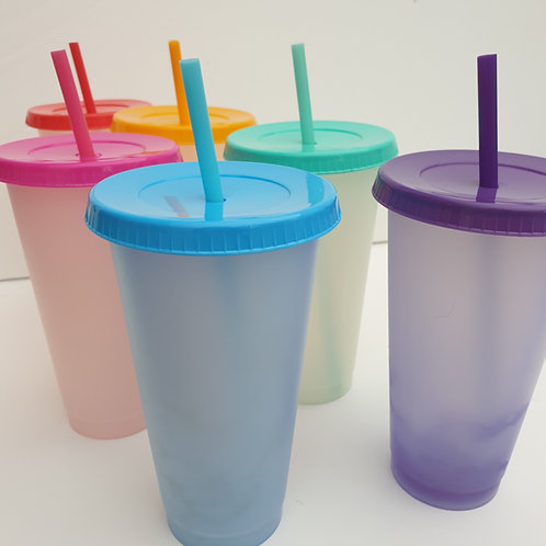 Customisable colour changing cups