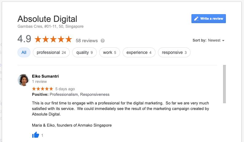 Absolute Digital Case Study Anmako Singapore