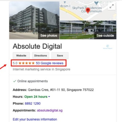 Absolute Digital Highly Rated Google Reviews