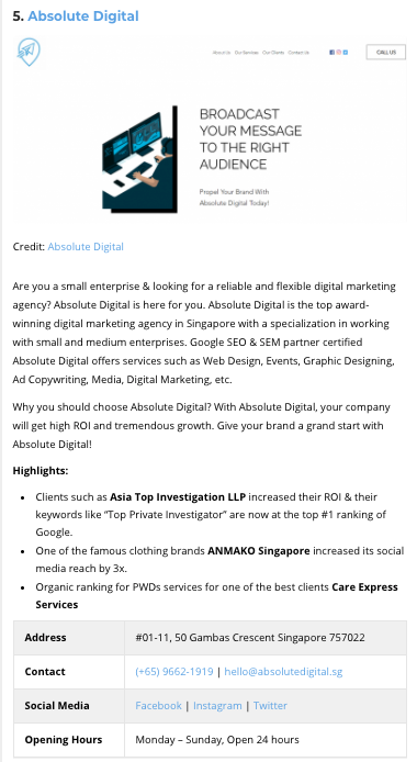 Absolute Digital Absolute Digital Featured Article - Best In Singapore 2021