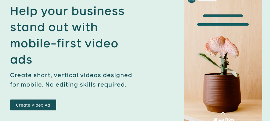 Help your business stand out with mobile-first video ads on Facebook