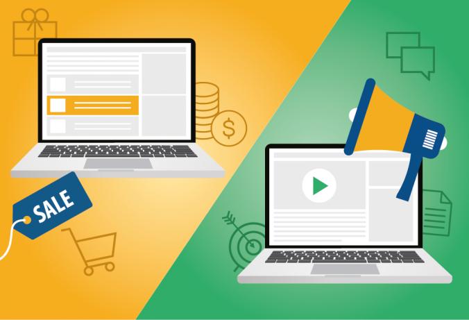 Marketing vs. Advertising by Absolute Digital