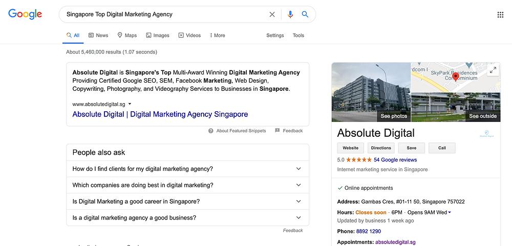 Absolute Digital Singapore Top Digital Marketing Agency