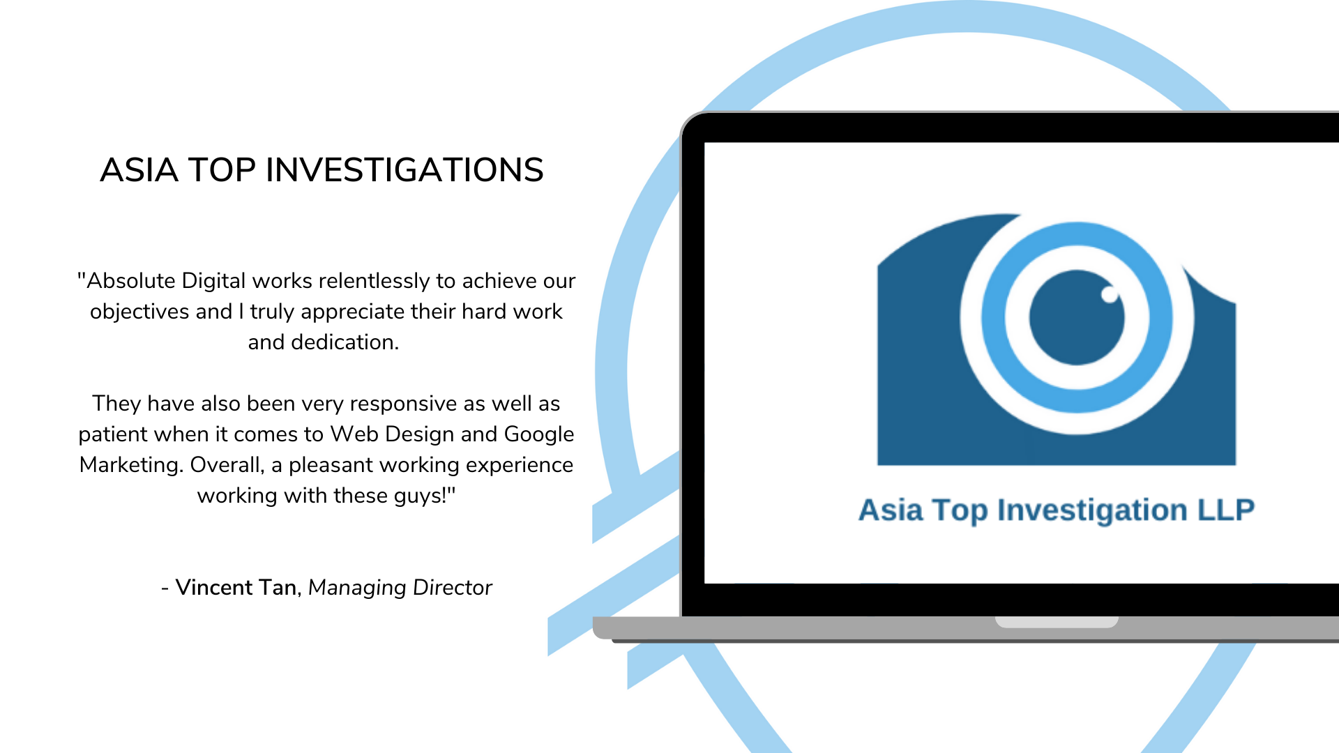 Absolute Digital Asia Top Investigations Testimonial