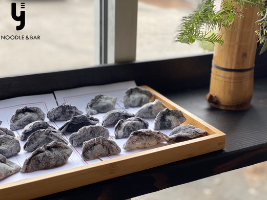 Home-made Squid Ink Dumpling