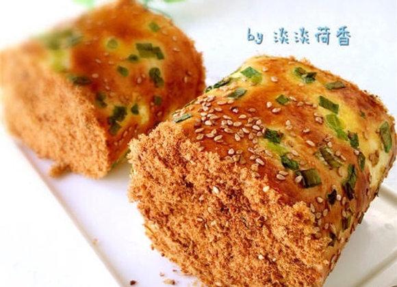 Minced pork rolls葱花肉松卷/2个