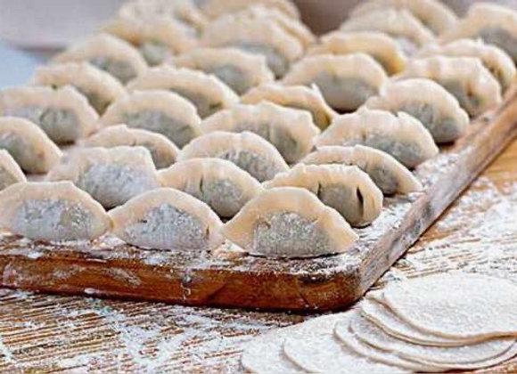 Green beans, pork, dried shrimps, mushroom dumplings四季豆猪肉虾米香菇饺子/16个