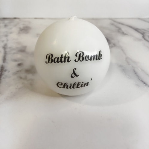 Crystal Ball Mantra Candle
