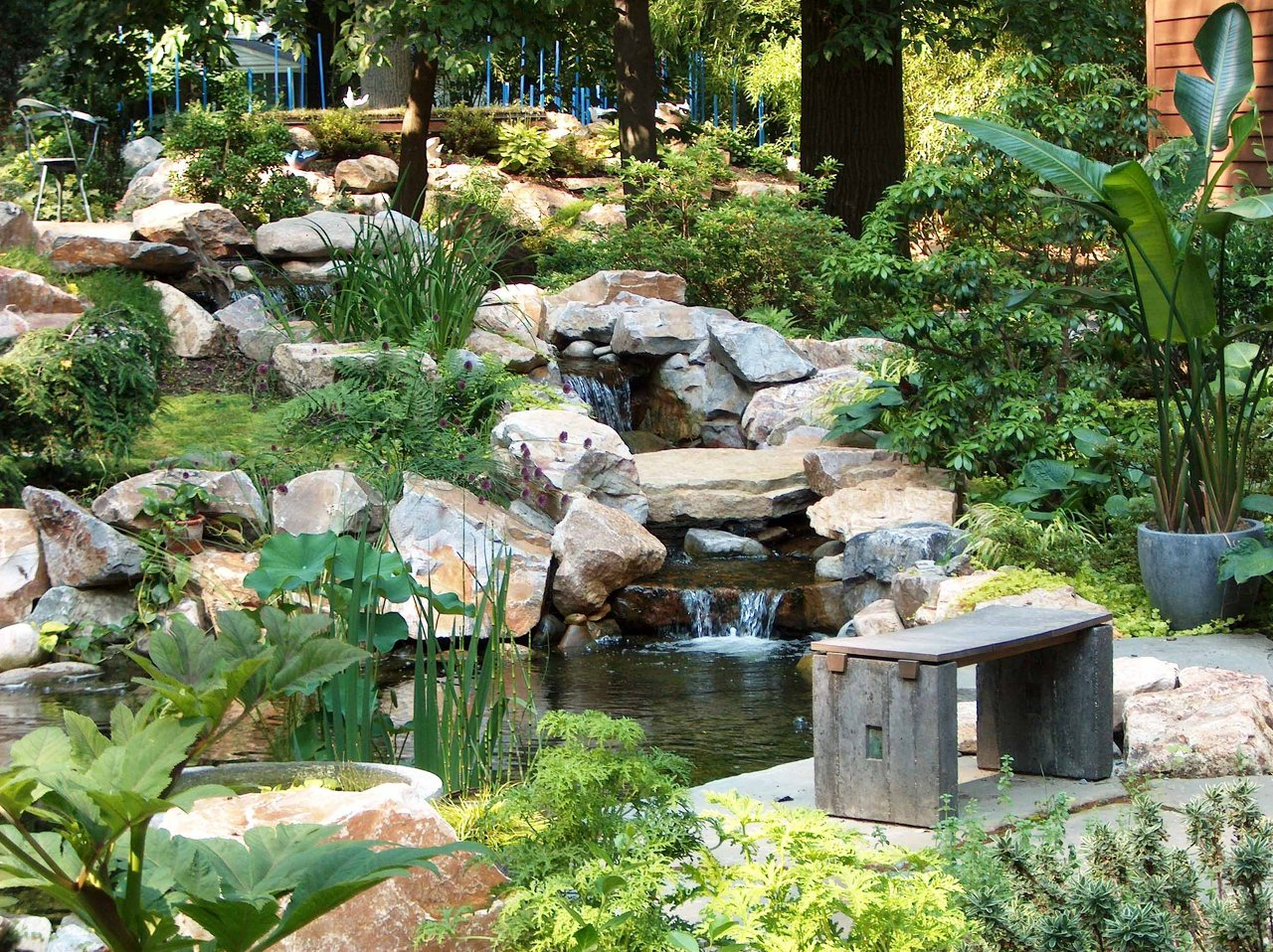 Natural Water Feature Koi Pond