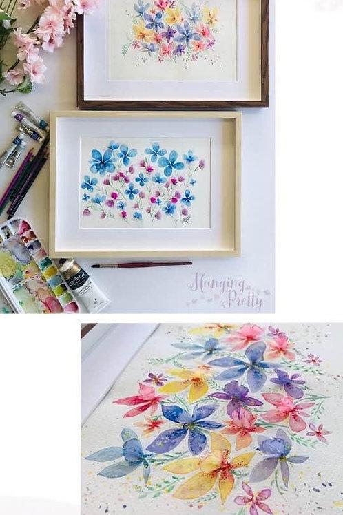Paper petals and watercolour florals