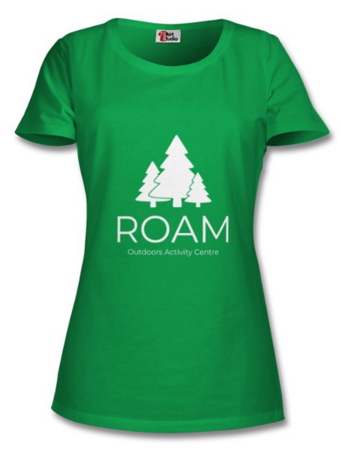 Ladies 'ROAM' cotton t-Shirt in vibrant green