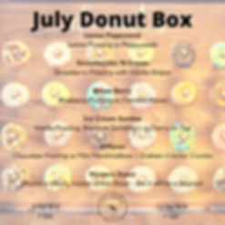 July Donut Box