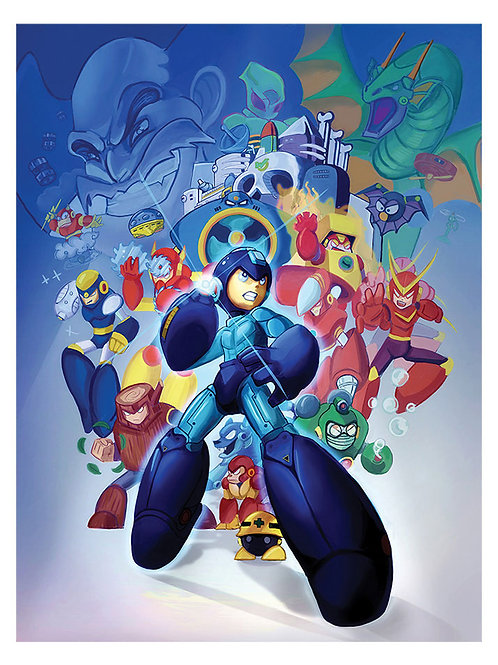 Mega Man 2 Tribute Print