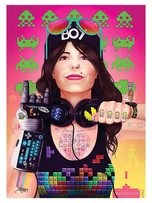 Gamer Girl 2.0 Print