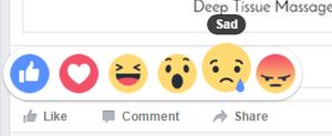 sad facebook reaction