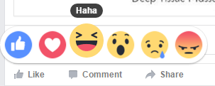 Facebook reactions - haha
