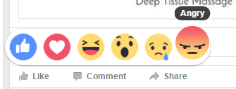 Facebook reaction - angry