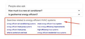 HVAC search terms