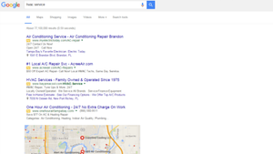 Google Sidebar Ads with sidebar removed - PPC for HVAC