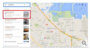 Google Maps local search ads on desktop
