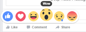 Facebook reactions - wow