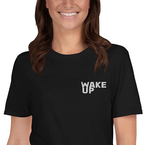 Short-Sleeve Unisex T-Shirt Embroidered Wake up