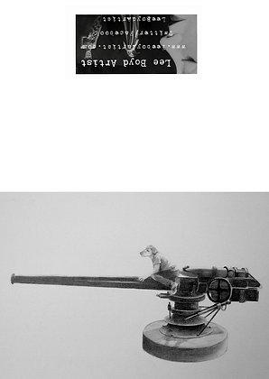 Little Dog Of War Art Card