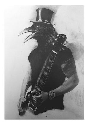 Crow Soul -Slash A4 Print