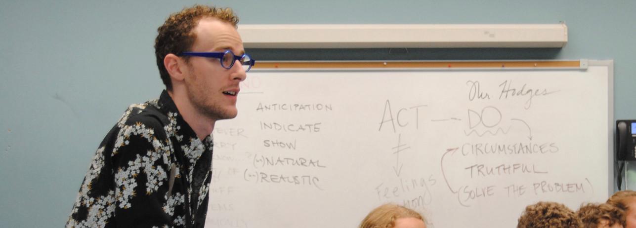 Acting class at SCGSAH Discovery Program