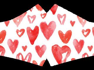Valentijn- en carnavalsmondmaskers
