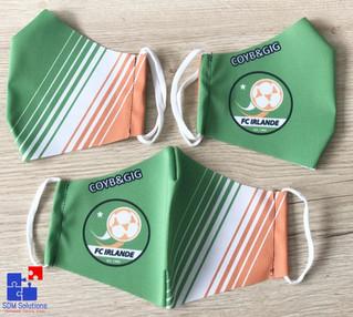 Mondmaskers voor FC Irlande