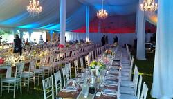 Farm Tables Wedding Tent
