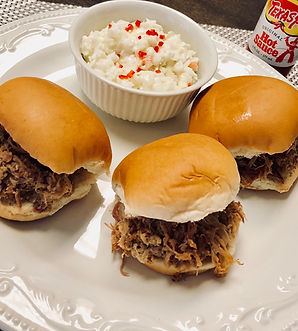 North Carolia Pulled Pork BBQ Slides with Coleslaw by Catering Concepts, Inc.