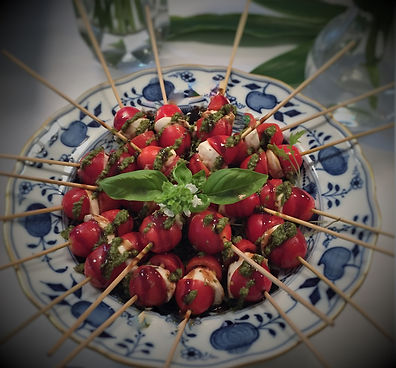 Caprese Skewers with Pesto by Catering Concepts, Inc.