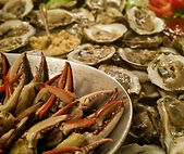 East Coast Seafood Platter; Raw Local Oysters and Steamed Blue Crab