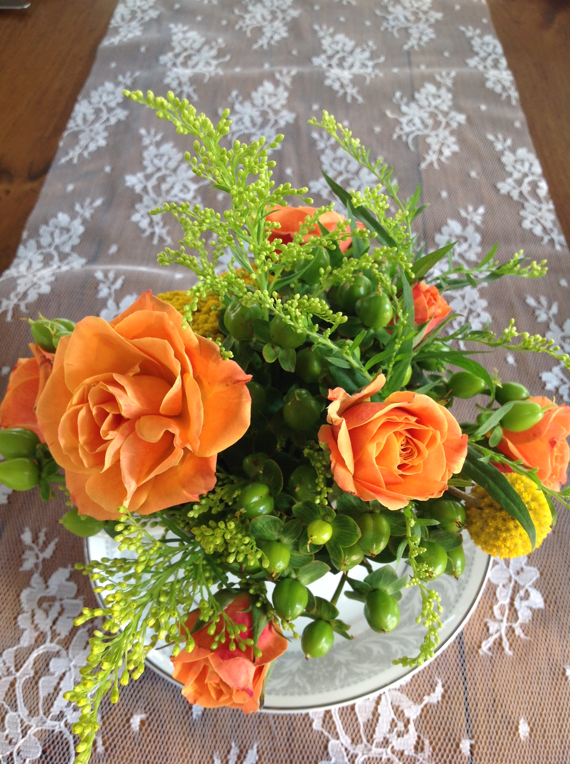 Centerpiece Design, Orange, Wedding