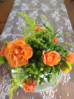 Centerpiece Design, Orange, Wedding