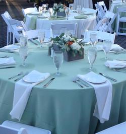 Green Themed Wedding Decor