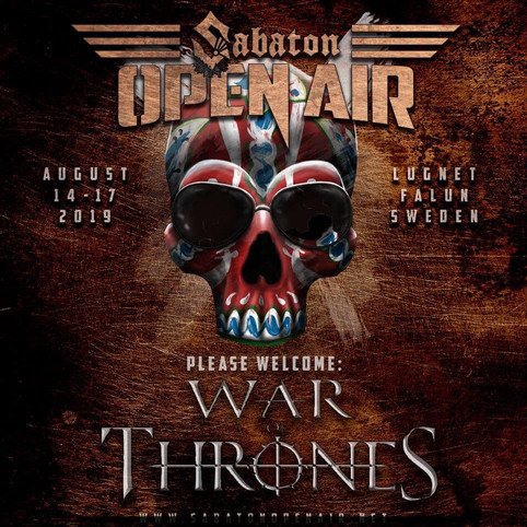 War Of Thrones Appearing At Sabaton Open Air Festival