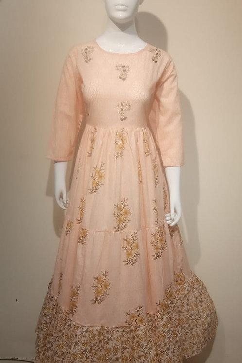 Long Cotton Frills Dress